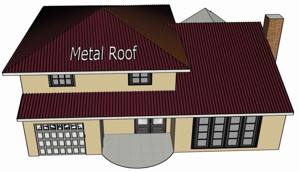 metal roof installation